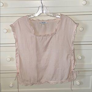 Madewell Pink & White Stripe Sleeveless Shirt